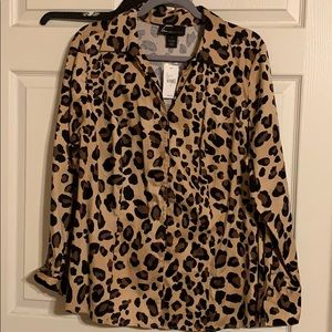 Plus Leopard Blouse